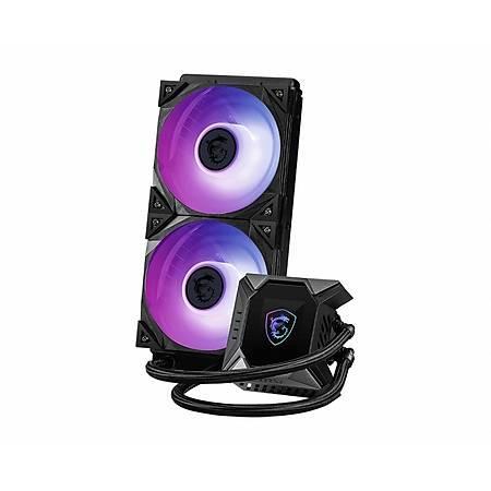 MSI MAG CORELIQUID K240 240mm aRGB 2.4 LCD Ekranlý Ýþlemci Sývý Soðutucu
