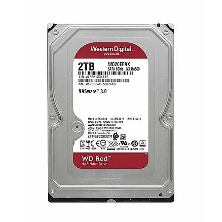 WD Red Nas 3.5 2TB 5400Rpm 64Mb Sata 3 WD20EFAX