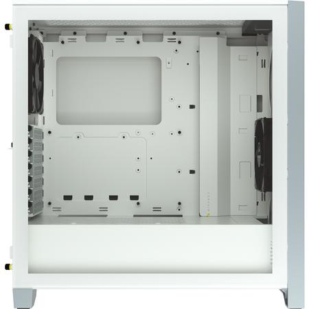 Corsair 4000D Temperli Cam Beyaz ATX MidTower Kasa PSU Yok