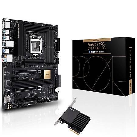 Powered By ASUS PROART Z490 Ý9 11900K 64GB 1TB SSD 24GB ROG STRIX RTX 3090 OC STRIX LC 240 RGB Sývý Soðutma 1000W PSU ROG STRIX ARION LITE SSD Kutusu Hediye