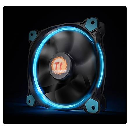 Thermaltake Riing 120mm Mavi Halka Led Kasa ve Radyatör Faný