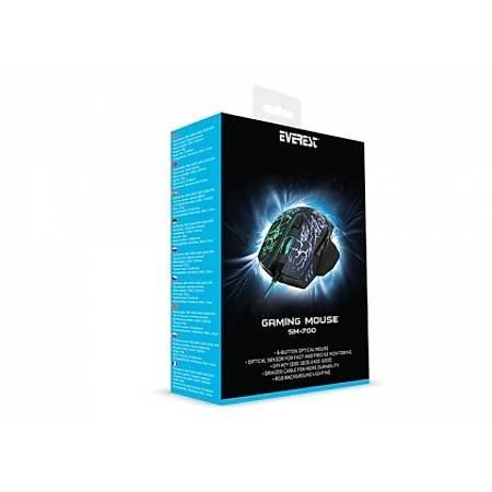 Everest SM-700 Usb 3200DPI Gaming Mouse Siyah