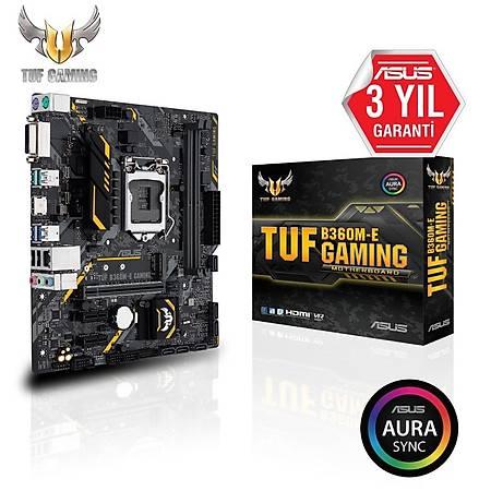 ASUS TUF B360M-E GAMING DDR4 2666MHz DVI HDMI M.2 RGB mATX 1151p