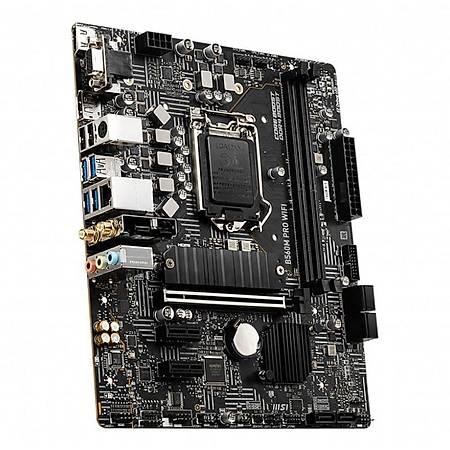 MSI B560M PRO WIFI DDR4 5200MHz (OC) HDMI DP VGA M.2 USB 3.2 Wi-Fi mATX 1200p