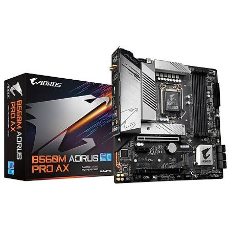 GIGABYTE B560M AORUS PRO AX DDR4 5333MHz (OC) HDMI DP Thunderbolt M.2 USB3.2 Wi-Fi RGB Micro ATX 1200p