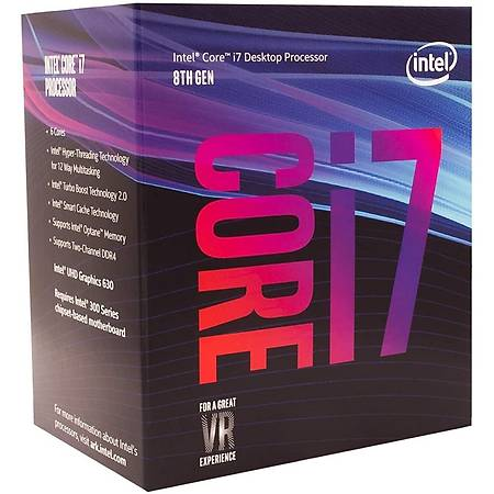 Intel Core i7 8700 Soket 1151 3.20GHz 3.9GHz 12MB Cache Ýþlemci