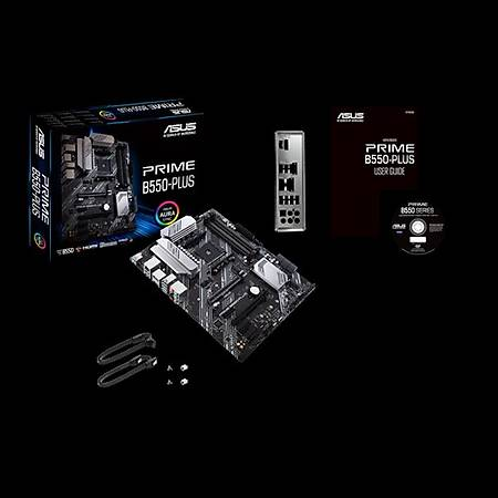 ASUS PRIME B550 PLUS DDR4 4400MHz (OC) HDMI DP TYPE-C M.2 USB3.2 AURA RGB ATX AM4