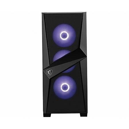 MSI MAG FORGE 101M Temperli Cam RGB ATX Gaming Bilgisayar Kasasý PSU Yok