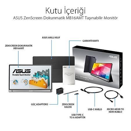 ASUS MB16AMT 15.6 MB16AMT IPS 1920x1080 Type-C 5ms Siyah