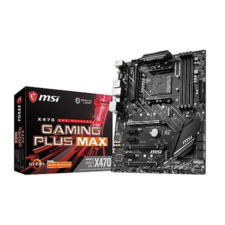 MSI X470 GAMING PLUS MAX DDR4 4133MHz (OC) DVI HDMI SATA 6GB/S M.2 USB3.1 ATX AM4