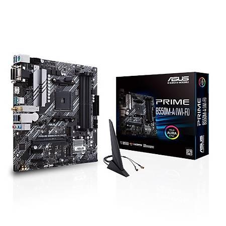 ASUS PRIME B550M-A DDR4 4400MHz (OC) VGA DVI HDMI M.2 USB3.2 AURA RGB mATX Wi-Fi AM4