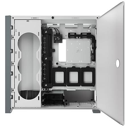 Corsair 5000D Temperli Cam Yan Panel ATX MidTower Beyaz Kasa PSU Yok
