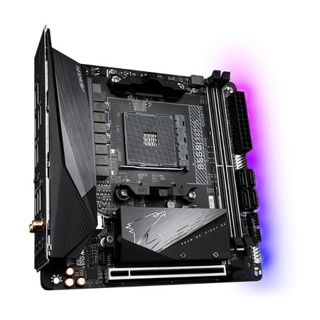 GIGABYTE B550I AORUS PRO AX Wi-Fi DDR4 5100MHz (OC) HDMI DP TYPE-C M.2 USB 3.2 mini-ITX AM4