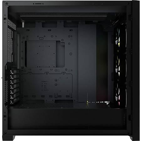 Corsair iCUE 5000X RGB Temperli Cam Siyah ATX MidTower Kasa PSU Yok