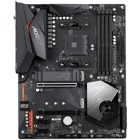 GIGABYTE X570 AORUS ELITE Wi-Fi DDR4 4400MHz (OC) HDMI M.2 USB 3.2 RGB ATX AM4