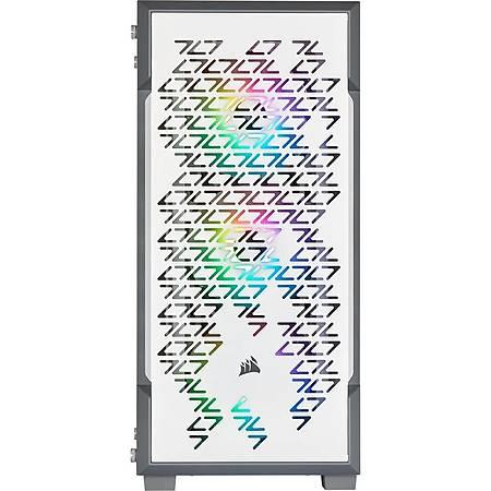 Corsair iCUE 220T RGB Airflow Temperli Cam Beyaz ATX MidTower Kasa PSU Yok
