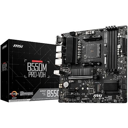 Powered By MSI B550M PRO-VDH Ryzen 5 3600 16GB 480GB SSD 12GB Radeon RX 6700 XT 650W PSU