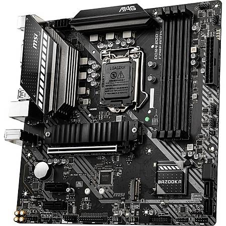 MSI MAG B460M BAZOOKA DDR4 2933MHz DVI HDMI M.2 USB 3.2 mATX 1200p