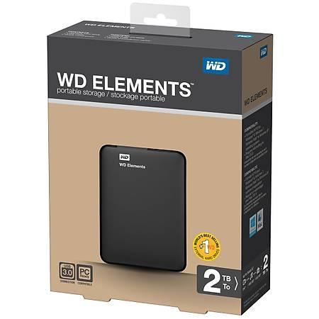 WD 2.5 2TB USB 3.0 Siyah Taþýnabilir Disk WDBU6Y0020BBK