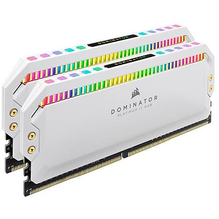 Corsair Dominator Platinum Rgb 16GB (2x8GB) DDR4 3600MHz CL18 Beyaz Dual Kit Ram