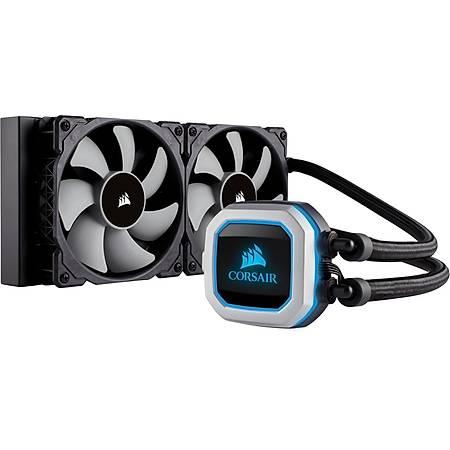 Corsair H100i RGB Pro 240mm Intel ve AMD Uyumlu Sývý Soðutma Sistemi