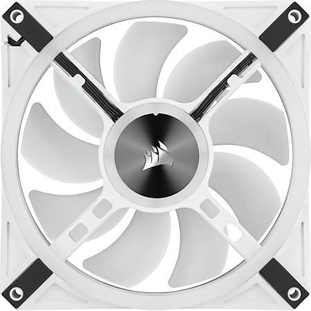 Corsair iCUE QL140 RGB 120mm Beyaz Fan Lighting Node Core Kontrolcü 2 li Paket