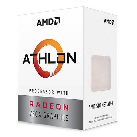 AMD Athlon 3 3000G Soket AM4 3.5GHz 5MB Cache Ýþlemci
