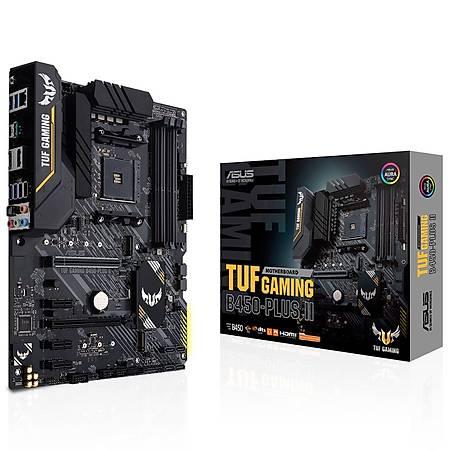 ASUS TUF GAMING B450-PLUS II DDR4 4400MHz HDMI DVI M.2 USB 3.2 RGB ATX AM4