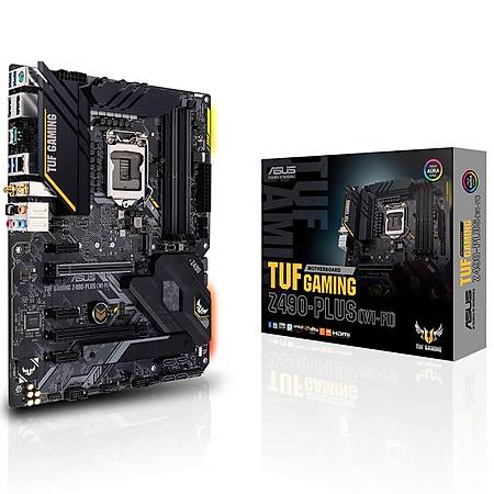 ASUS TUF GAMING Z490-PLUS Wi-Fi DDR4 4600MHz (OC) HDMI DP TYPE-C M.2 RGB USB 3.2 ATX 1200p