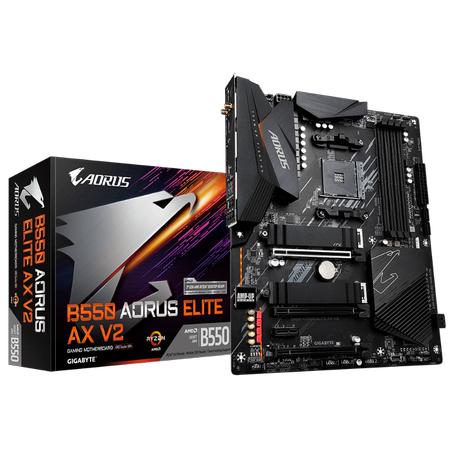 GIGABYTE B550 AORUS ELITE AX V2 Wi-Fi DDR4 4400MHz (OC) HDMI DP M.2 USB 3.2 ATX AM4