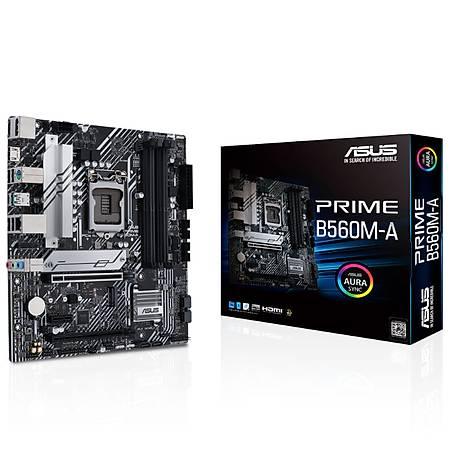 ASUS PRIME B560M-A DDR4 5000MHz HDMI DP M.2 USB3.2 Micro-ATX 1200p