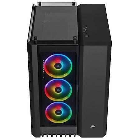 Corsair Crystal 680X RGB Temperli Cam Siyah ATX MidTower Kasa PSU Yok