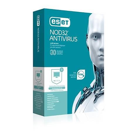ESET NOD32 Antivirüs 3 Kullanýcý 1 Yýl
