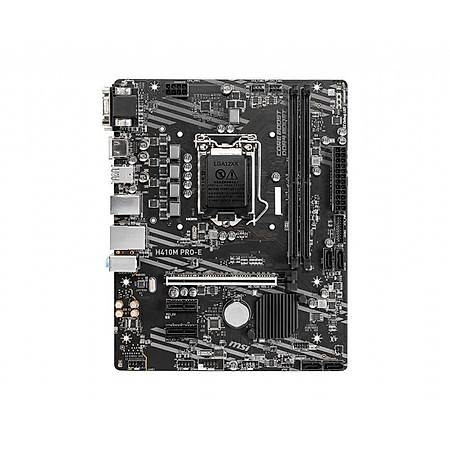 MSI H410M PRO-E DDR4 2933MHz VGA DVI HDMI USB3.2 Micro-ATX 1200p