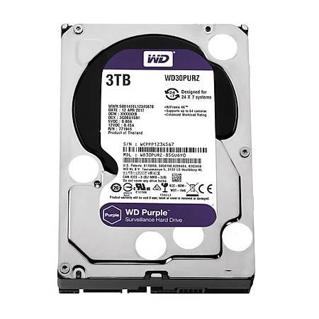 WD Purple 3.5 3TB 5400Rpm 64MB Sata 3 WD30PURZ