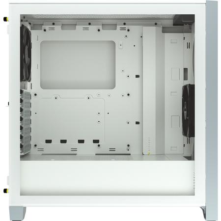 Corsair 4000D Airflow Temperli Cam Beyaz ATX MidTower Kasa PSU Yok