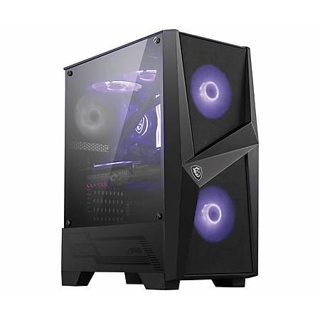 MSI MAG FORGE 100M Temperli Cam RGB ATX Gaming Bilgisayar Kasasý PSU Yok