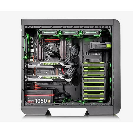 Thermaltake Core V51 Riing Edition Full-Tower Pencereli Yeþil Siyah