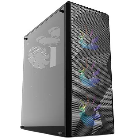 Power Boost VK-G3090C RGB Fanlý Mid-Tower Gaming Kasa PSU Yok