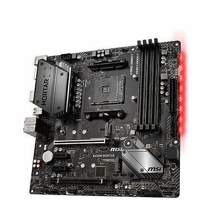 MSI B450M MORTAR MAX DDR4 4133MHz (OC) DVI HDMI DP M.2 USB3.1 mATX AM4