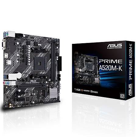 ASUS PRIME A520M-K DDR4 4400MHz HDMI VGA M.2 USB 3.2 mATX AM4