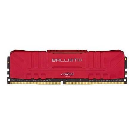 Crucial Ballistix 16GB DDR4 3000MHz CL16 Kýrmýzý Kutusuz Ram