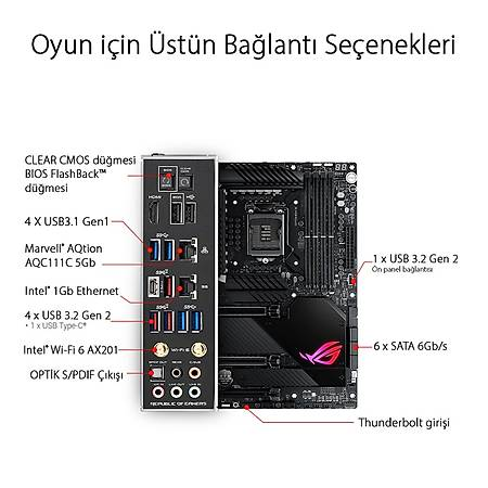 ASUS ROG MAXIMUS XII HERO Z490 DDR4 4800MHz (OC) HDMI TYPE-C M.2 RGB USB 3.2 ATX Wi-Fi 1200p