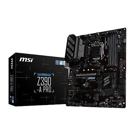 MSI Z390-A PRO DDR4 4400MHz (OC) VGA DP M.2 USB3.1 ATX 1151p