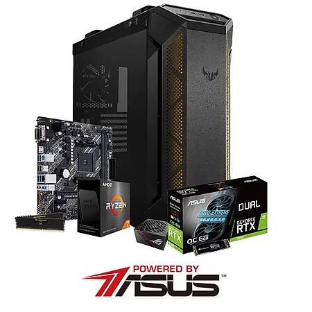 Powered By ASUS B450M-K II Ryzen 7 5800X 16GB 480GB SSD 6GB GeForce RTX2060 750W PSU