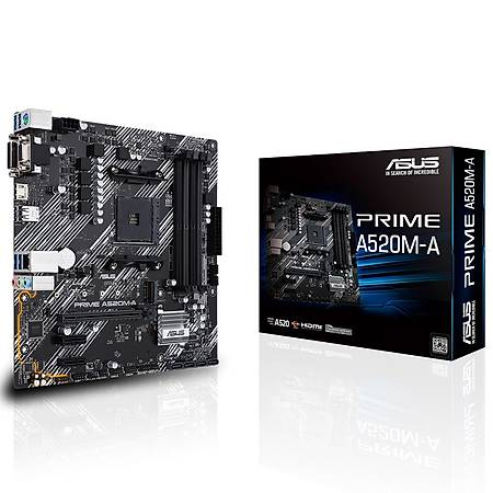 ASUS PRIME A520M-A DDR4 4800MHz HDMI DVI VGA M.2 USB 3.2 mATX AM4