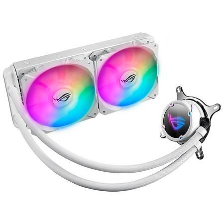 ASUS ROG STRIX LC 240 RGB AURA SYNC 120mm Adreslendirilebilir Beyaz Ýþlemci Sývý Soðutucu