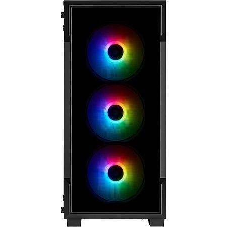 Corsair iCUE 220T RGB Temperli Cam Siyah ATX MidTower Kasa PSU Yok
