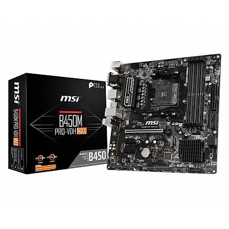 MSI B450M PRO-VDH MAX DDR4 3866MHz (OC) VGA DVI HDMI GLAN SATA 6GB/S M.2 USB3.1 mATX AM4