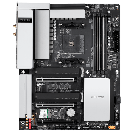 GIGABYTE B550 VISION D Wi-Fi DDR4 5100MHz (OC) HDMI DP TYPE-C M.2 USB 3.2 ATX AM4